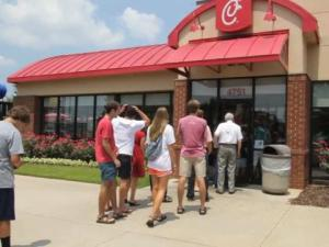 LIne at Chick-fil-A