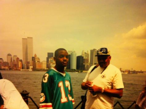 My father and I on a visit to NYC, circa 1994.