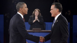 President Obama and Mitt Romney meet in second 2012 presidential debate