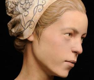 Reconstructed face of Jamestown settler